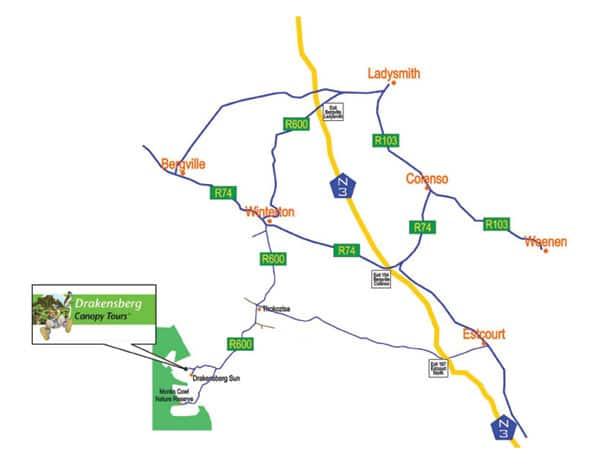 Drakensberg Map