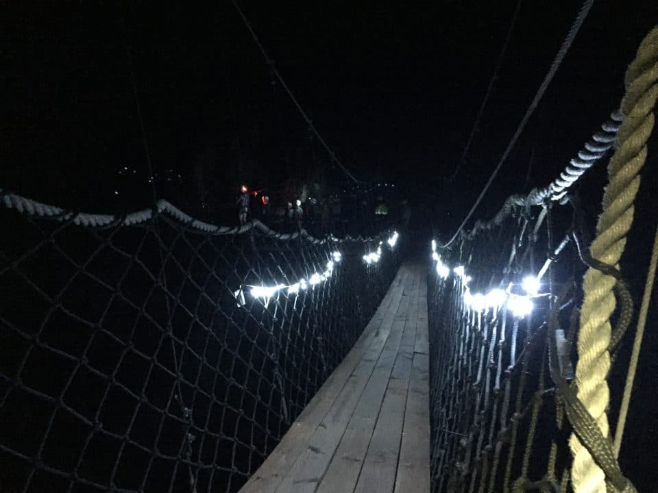 suspension bridge_cape canopy tour full moon zipline