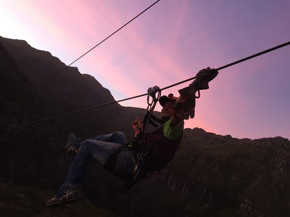 tommy slide_cape canopy tour full moon zipline
