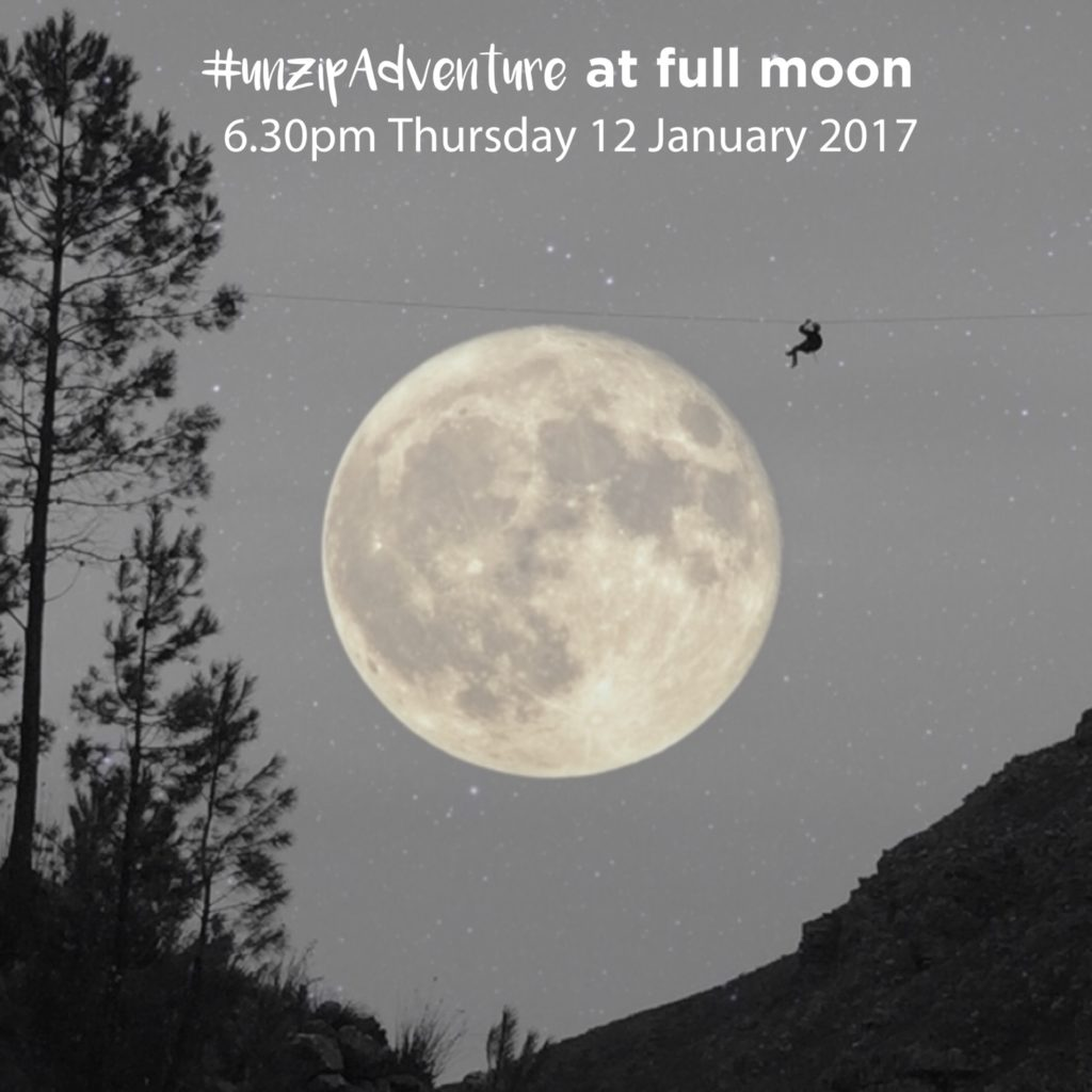 Full moon zipline: taking adventure to new heights!