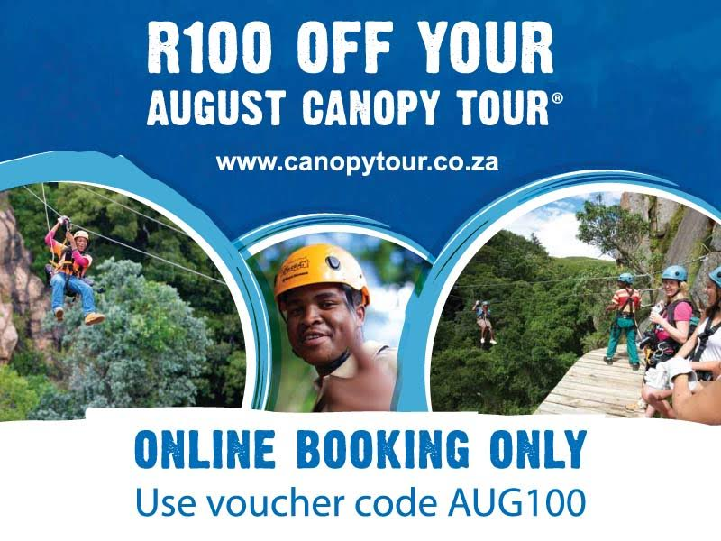 August Special: R100 off your Canopy Tour