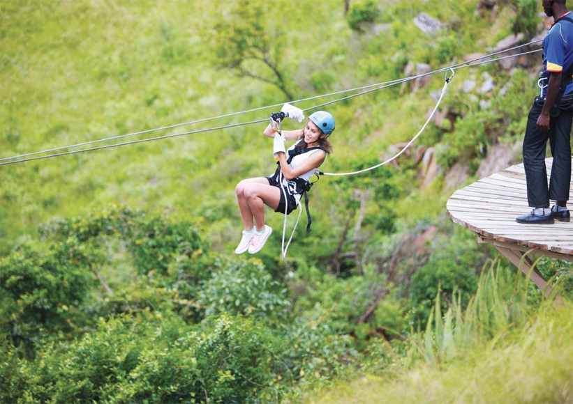 Canopy Tours Guest Starting A Zipline