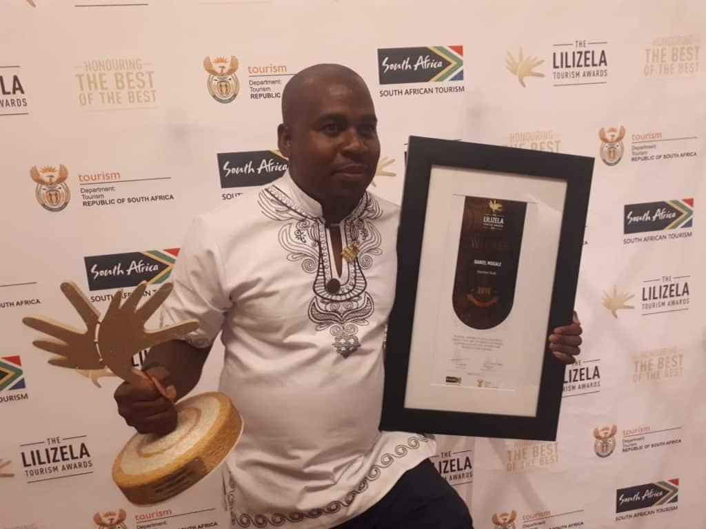 Daniel Mogale Adventure Guide winner At The Lilizela Tourism Awards!